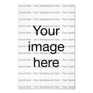 Impresión de encargo en plantilla en blanco doble impresiones fotográficas