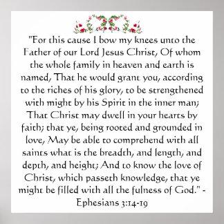 Impresión de Ephesians 3 Póster