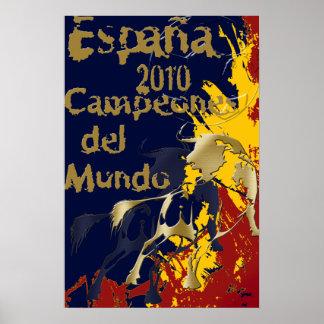 Impresión de Espana Campeones Del Mundo Poster