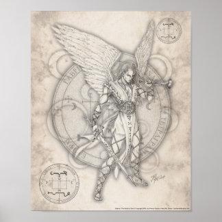 Impresión de Gabriel del arcángel Póster