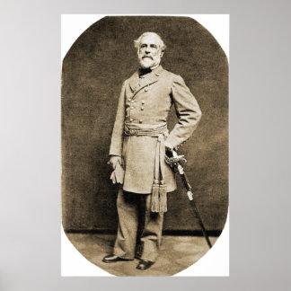 Impresión de general Roberto E. Lee en 1863 Póster