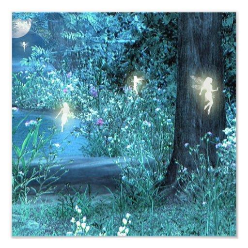 Impresión de hadas de la noche fotografía