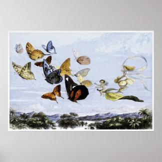 Impresión de hadas de Richard Doyle 1870 Posters