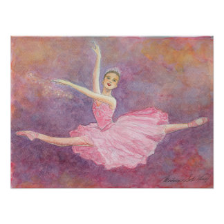 Impresión de hadas del arte del ballet del ciruelo posters