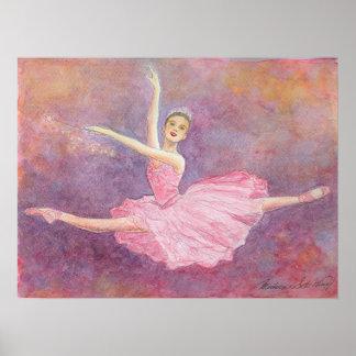 Impresión de hadas del arte del ballet del ciruelo póster