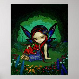 Impresión de hadas del arte del dragón de la fanta poster