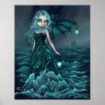 Impresión de hadas del arte del mar gótico del far poster