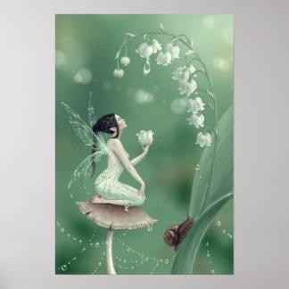 Impresión de hadas del arte del poster de la flor