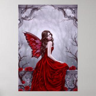 Impresión de hadas del arte del poster del rosa de