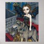 Impresión de hadas del arte del vampiro gótico del poster