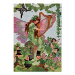 Impresión de hadas del poster de la mariposa irlan