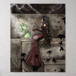 Impresión de hadas gótica del arte de la fantasía