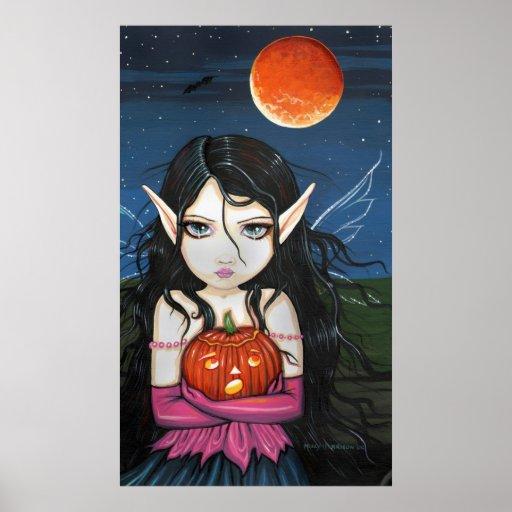 Impresión de hadas gótica del poster de la bruja d