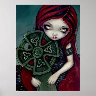 Impresión de hadas gótica extraño sola de la cruz  posters