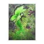 Impresión de hadas verde de la lona de arte de la  impresión de lienzo