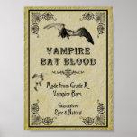 Impresión de Halloween de la sangre del palo de va Posters