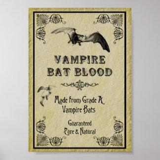 Impresión de Halloween de la sangre del palo de va Póster