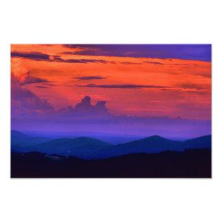 Impresión de Hdr de la salida del sol de Roanoke Fotografia