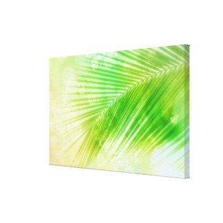 Impresión de hoja de palma tropical de la lona