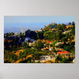 Impresión de Hollywood Hills, California Posters