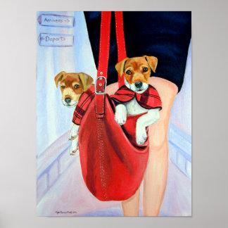 IMPRESIÓN de Jack Russell Terrier del párroco Poster