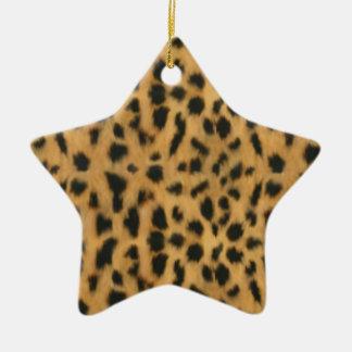 Impresión de Jaguar modelo de la piel de imitació Ornamentos Para Reyes Magos
