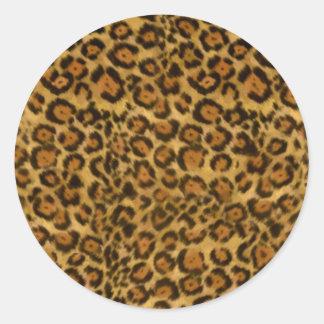 Impresión de Jaguar, modelo de la piel de Jaguar, Etiquetas Redondas