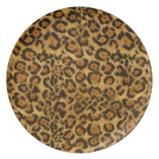 Impresión de Jaguar, modelo de la piel de Jaguar,  Platos