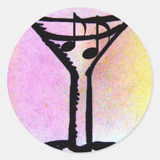 Impresión de JAZZ=TINI de Jill Pegatina Redonda