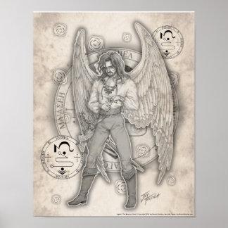 Impresión de Jophiel del arcángel Poster