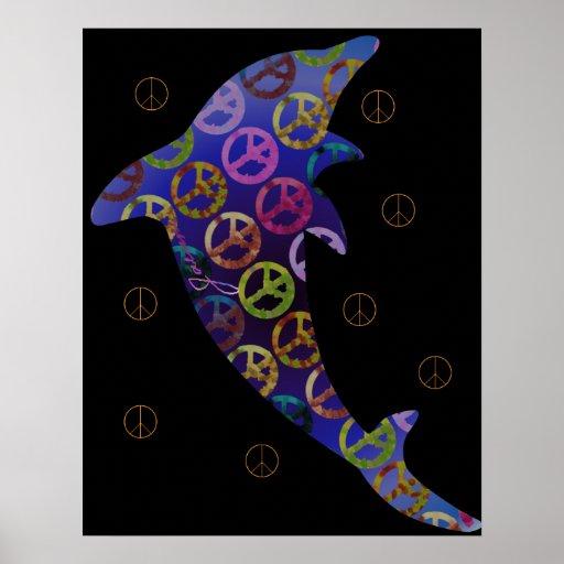 Impresión de jueves de la paz del delfín póster