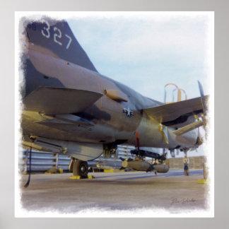 Impresión de Korat AFB Tailandia 1968 F-105 A1 Póster