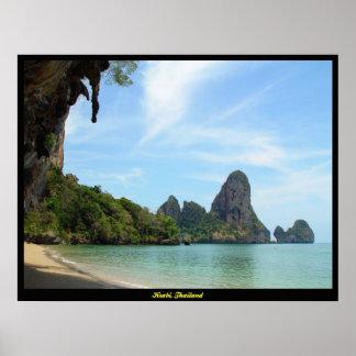 Impresión de Krabi Tailandia de la playa de la Pla Póster