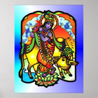 Impresión de Krishna Póster