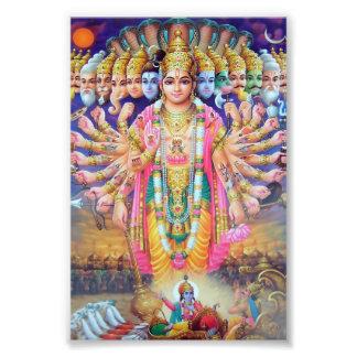 """Impresión de Krishna Vishvarupa (4"""" x 6"""") Cojinete"""