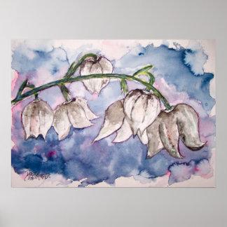 impresión de la acuarela de la flor lily_of_the_va posters