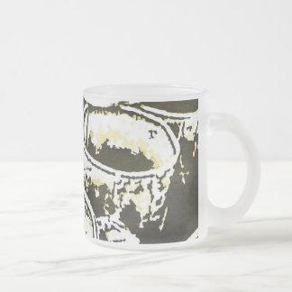 Impresión de la acuarela de las tazas de café del