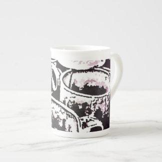 Impresión de la acuarela de las tazas de café del  taza de porcelana