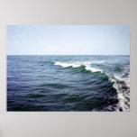 Impresión de la agua de mar poster