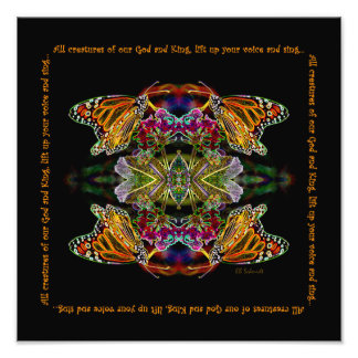 Impresión de la alabanza de la mariposa arte fotografico