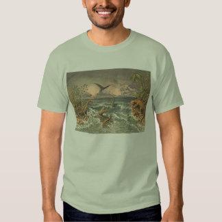 Impresión de la antigüedad de la vida prehistórica playeras