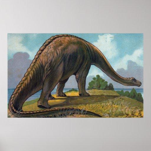 Impresión de la antigüedad del dinosaurio del Bron