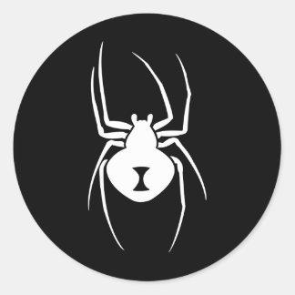 Impresión de la araña de la viuda negra pegatina redonda