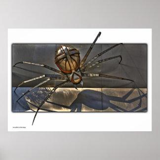 Impresión de la araña del hierro póster