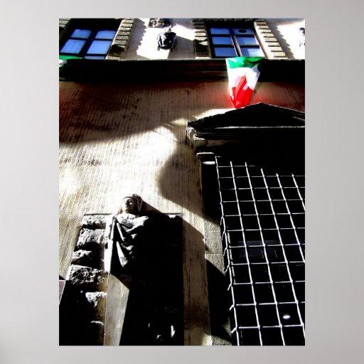Impresión de la arquitectura de Florencia Póster