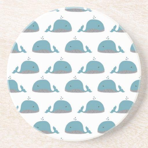 Impresión de la ballena posavasos diseño
