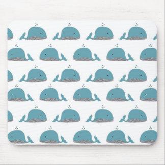 Impresión de la ballena tapetes de ratones
