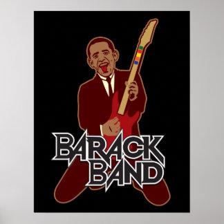 Impresión de la banda de Barack Póster