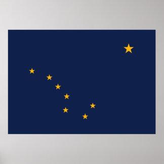 Impresión de la bandera de Alaska Poster