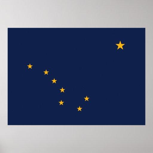 Impresión de la bandera de Alaska Póster